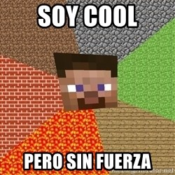 Minecraft Guy - soy cool pero sin fuerza