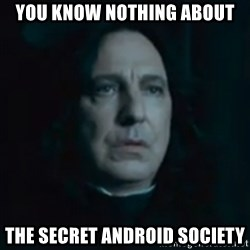 Always Snape - You know nothing about The secret android society