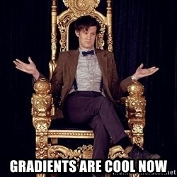 Hipster Doctor Who -  gradients are cool now
