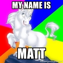 Gayy Unicorn - MY Name is MATT