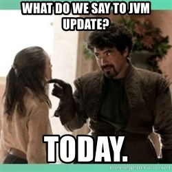 What do we say - WHAT DO WE SAY TO JVM UPDATE? TODAY.