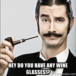 Rich Guy -  hey do you have any wine glasses!?