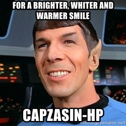 smiling spock - for a brighter, whiter and warmer smile capzasin-hp