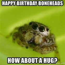 The Spider Bro - Happy Birthday Boneheads How about a hug?