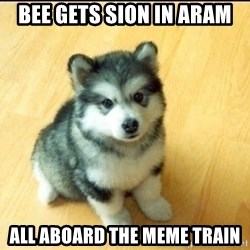Baby Courage Wolf - Bee gets Sion in ARAM ALL ABOARD THE MEME TRAIN
