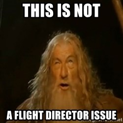 Gandalf You Shall Not Pass - this is not a flight director issue