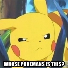 Unimpressed Pikachu -  Whose Pokemans is this?