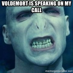 Angry Voldemort - Voldemort is Speaking on my Call
