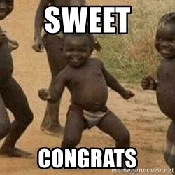 Success African Kid - sweet congrats