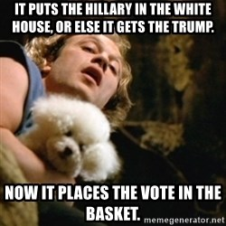 BuffaloBill - it puts the hillary in the white house, or else it gets the trump. now it places the vote in the basket.