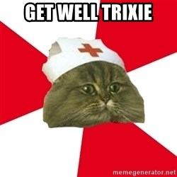 Nursing Student Cat - Get well trixie