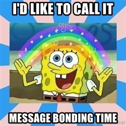 Spongebob Imagination - I'd like to call it Message bonding time