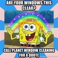 Spongebob Imagination - Are your windows this clear? Call Planet Window Cleaning for a quote