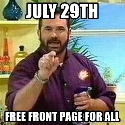 Badass Billy Mays - July 29th Free front page for all