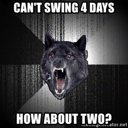 flniuydl - CAN'T SWING 4 DAYS HOW ABOUT TWO?