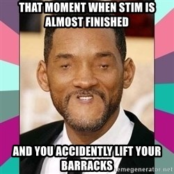 woll smoth - That moment when stim is almost finished and you accidently lift your barracks