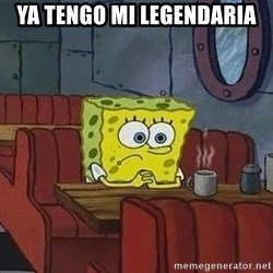 Coffee shop spongebob - ya tengo mi legendaria