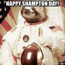 space sloth - Happy Shampton day!