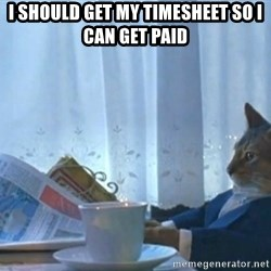 newspaper cat realization - I should get my timesheet so i can get paid