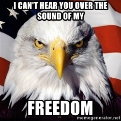 Freedom Eagle  - I CAN'T HEAR YOU OVER THE SOUND OF MY FREEDOM