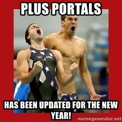 Ecstatic Michael Phelps - plus portals has been updated for the new year!