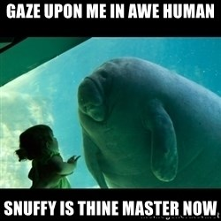 Overlord Manatee - GAZE UPON ME IN AWE HUMAN SNUFFY IS THINE MASTER NOW