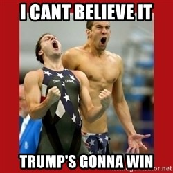 Ecstatic Michael Phelps - I CANT BELIEVE IT TRUMP'S GONNA WIN