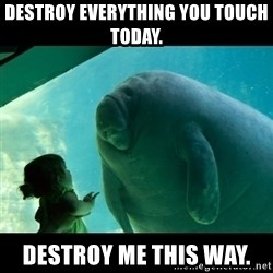 Overlord Manatee - Destroy everything you touch today. Destroy me this way.