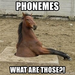 Hole Horse - Phonemes What are those?!