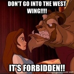 BeastGuy - Don't go into the west wing!!!! It's forbidden!!