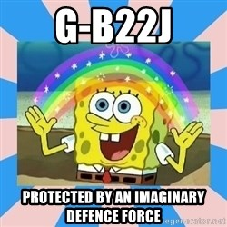 Spongebob Imagination - G-B22j Protected By an imaginary defence force