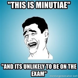"""Laughing Man - """"this is minutiae"""" """"and its unlikely to be on the exam"""""""