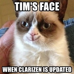 Happy Grumpy Cat 2 - Tim's Face When clarizen is updated