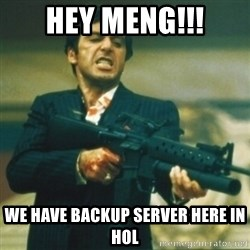 Tony Montana - HEY MENG!!! WE HAVE BACKUP SERVER HERE IN HOL