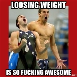 Ecstatic Michael Phelps - Loosing weight is so fucking awesome