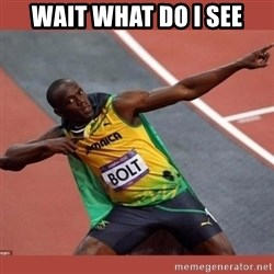 USAIN BOLT POINTING - wait what do i see
