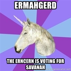 ASMR Unicorn - ermahgerd the erncern is voting for savanah