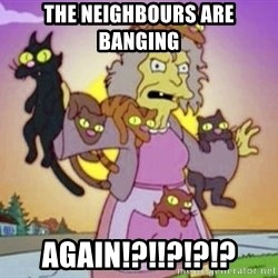 Crazy Cat Lady - the neighbours are banging again!?!!?!?!?