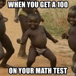 Success African Kid - when you get a 100 on your math test