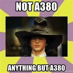 Harry Potter Sorting Hat - NOT A380 ANYTHING BUT A380