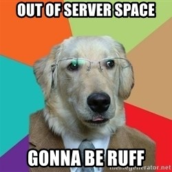 Business Dog - out of server space gonna be ruff