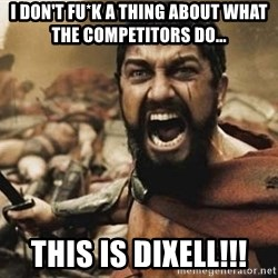 300 - I don't fu*k a thing about what the competitors do... THIS IS DIXELL!!!