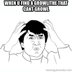 wtf jackie chan lol - When U Find A Growlithe that cant growl