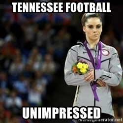 unimpressed McKayla Maroney 2 - Tennessee Football unimpressed