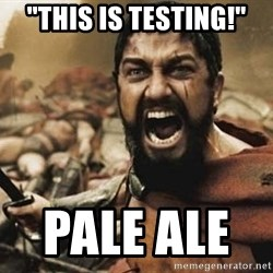 "300 - ""This is Testing!"" Pale Ale"