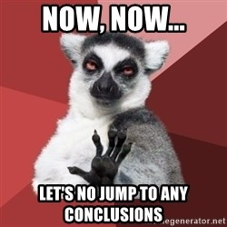 Chill Out Lemur - now, now... let's no jump to any conclusions
