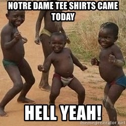 Dancing african boy - notre dame tee shirts came today hell yeah!