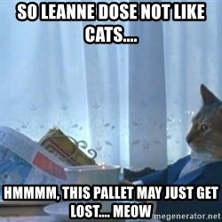 newspaper cat realization - So leanne dose not like cats.... Hmmmm, this pallet may just get lost.... meow