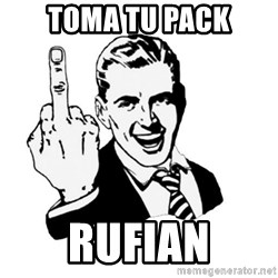 middle finger - TOMA tu pack rufian