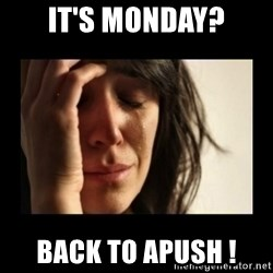 todays problem crying woman - It's monday? Back to apush !
